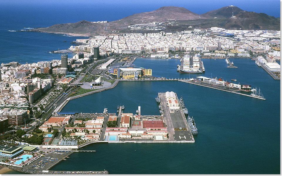 Seereisenmagazin hafenportrait puerto de la luz auf gran canaria - Port of las palmas gran canaria ...