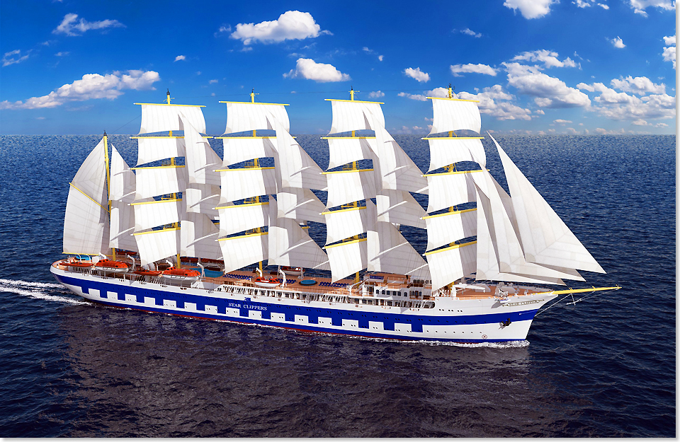18108 Aussenansicht Flying Clipper Rendering Star Clippers