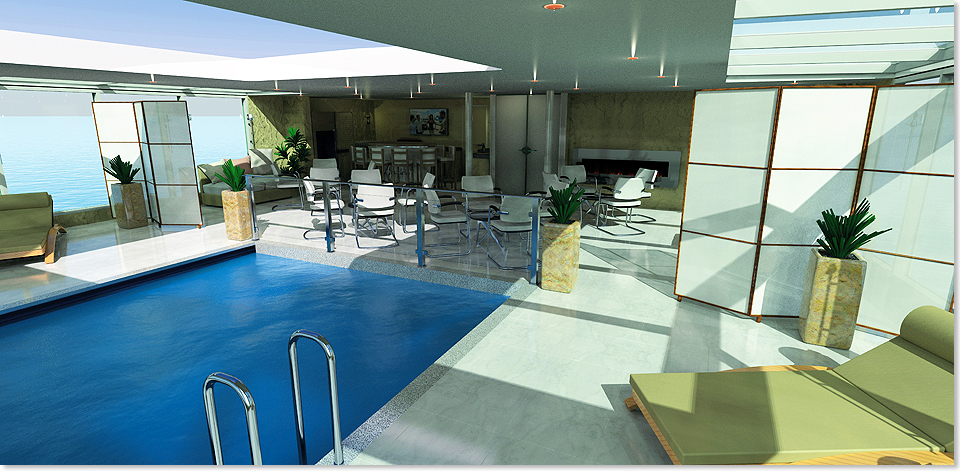 17316 Rendering AMADEUS Queen Indoor Pool Lueftner Cruises