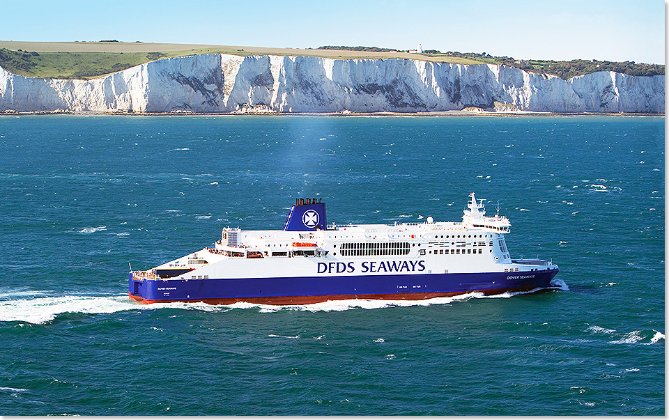 18318 10 Dover Seaways alter Anstrich DFDS