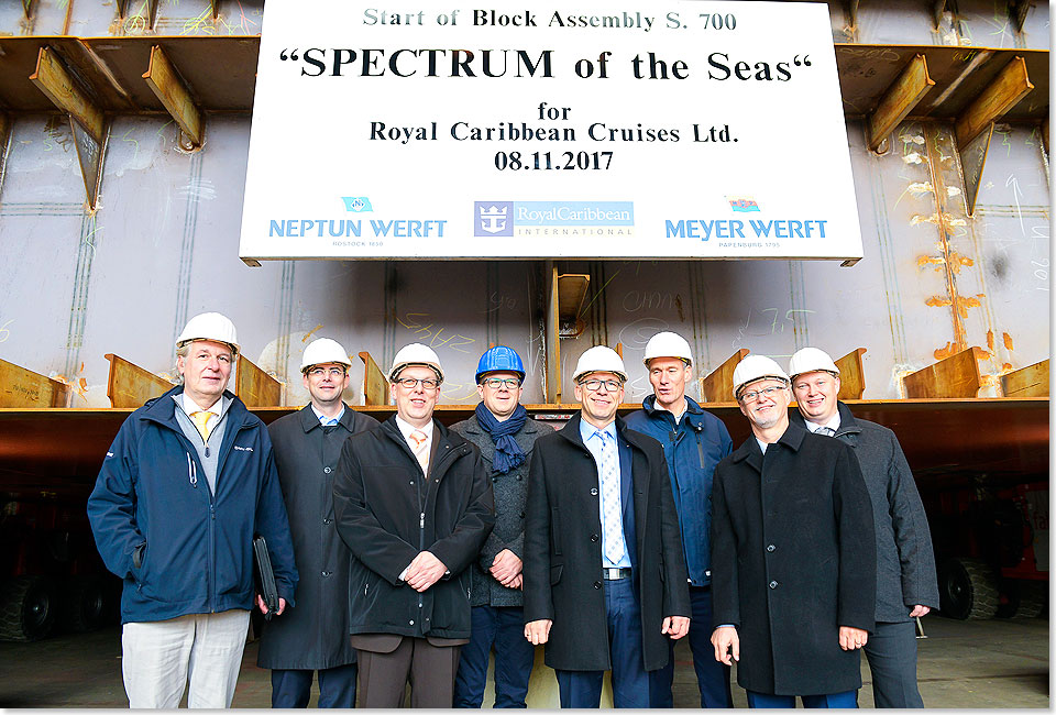 Kiellegung Spectrum of the Seas 4046 Foto Meyer Werft Papenburg Margrit Wild